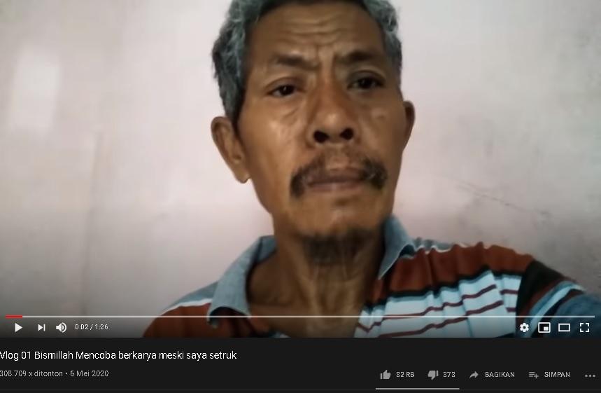 Derita Stroke, Pria Ini Ceritakan Kisahnya Lewat YouTube Karena Tak Lagi Bisa Bekerja