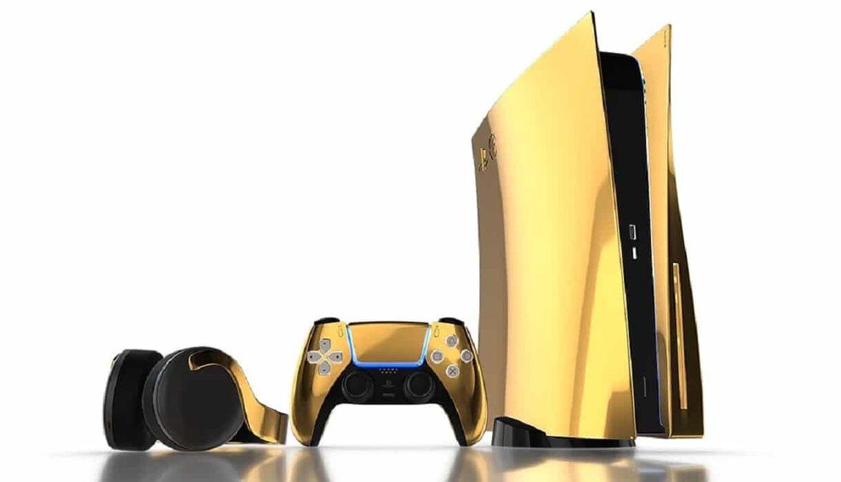 PlayStation 5 Ini Dilapisi Emas 24 Karat, Khusus untuk Gamers Sultan!