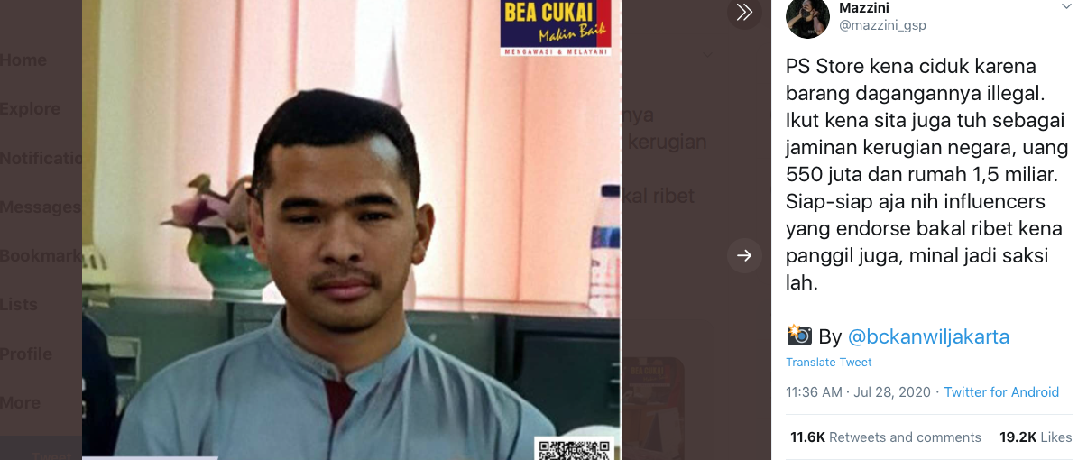 Putra Siregar Pemilik PS Store Diciduk Oleh Bea Cukai, Apa Penyebabnya?