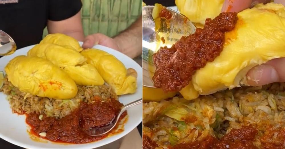 Durian Disajikan Di Atas Nasi Goreng dan Sambal Belacan, Apa Rasanya?