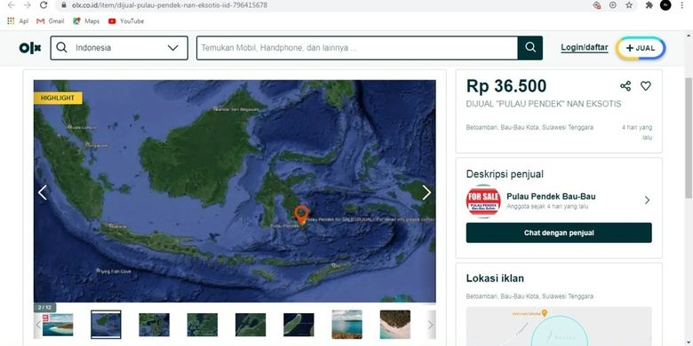 Pulau Indonesia Ini Dijual Online