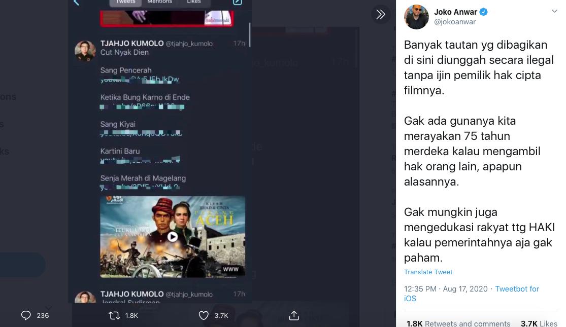 """Joko Anwar Dibuat """"Patah Hati"""" Oleh Salah Satu Mentri, Kenapa?"""