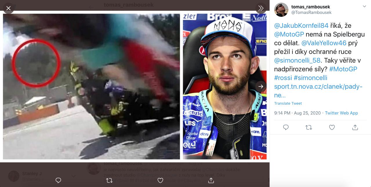 "Mistis : Rossi Diselamatkan oleh ""Roh"" Marco Simoncelli Dalam Kecelakaan Maut MotoGP Austria!"