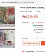 Uang Baru Rp75 Ribu di-Resell Secara Online, Harganya Tembus Jutaan Rupiah!