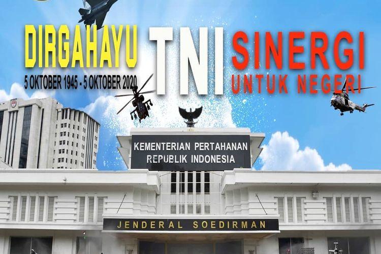 Desain Poster HUT TNI Ke-75 Jadi Guyonan Jagat Maya, Ini Alasannya
