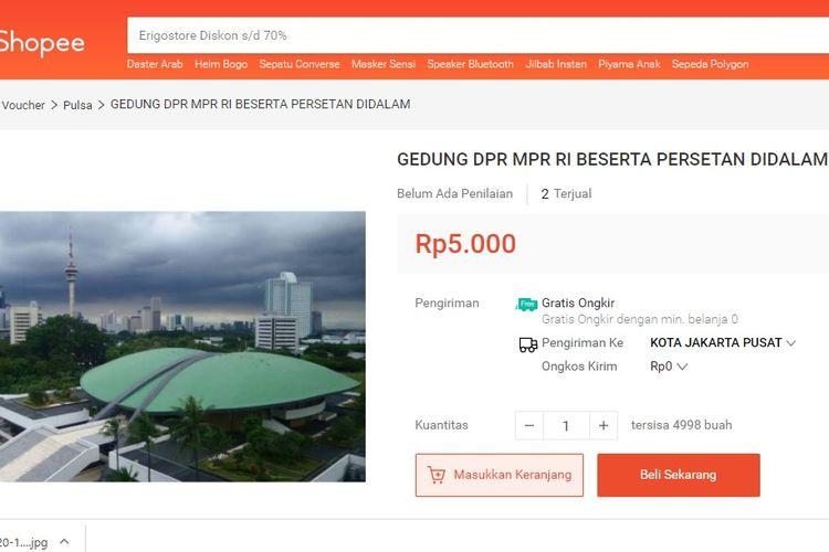 Gedung DPR Dijual, Sekjen Buka Suara!