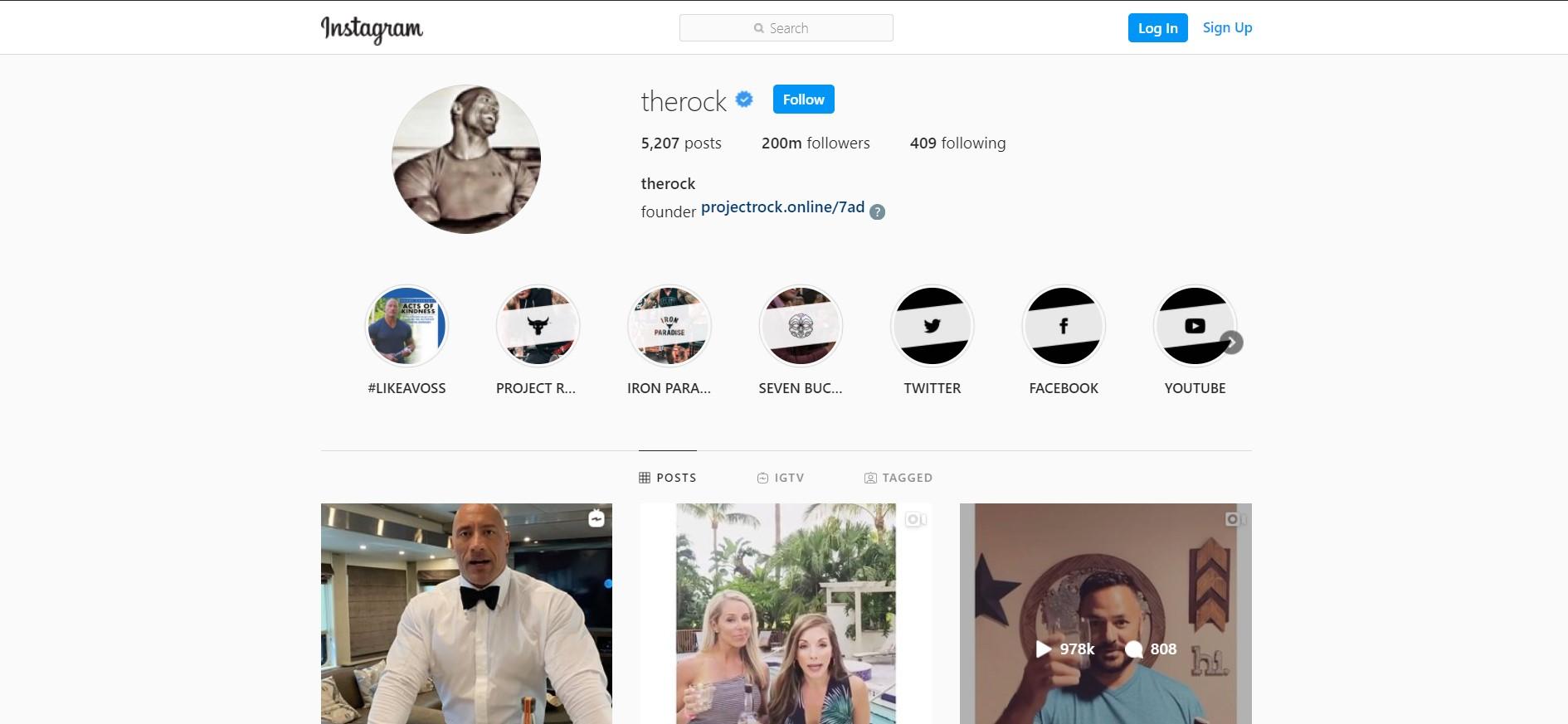 """Dwayne Johnson """"The Rock"""" Jadi Pria Dengan Followers Terbanyak di Amerika Serikat!"""