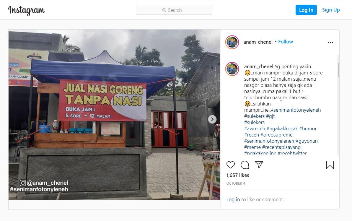 Nasi Goreng Tanpa Nasi Jadi Menu Andalan Sebuah Warung Viral!