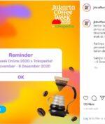 Jakarta Coffee Week 2020 Digelar Online, Catat Tanggalnya!