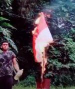 Bakar Bendera Merah Putih di TikTok, Pembuat Video Ini Diselidiki Polisi