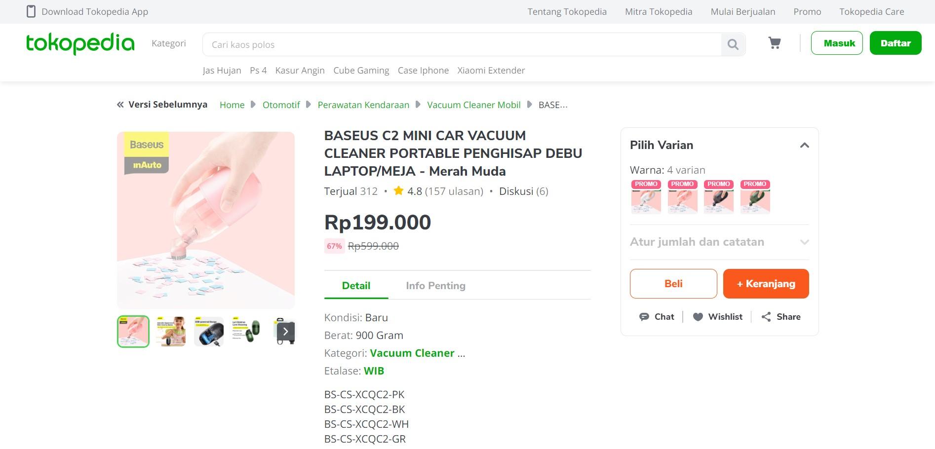 Penting Gak Penting : Mini Vacuum Cleaner, 200 Ribu Saja!