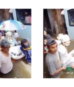 Banjir Gak Jadi Halangan Untuk Pasangan Ini Menikah