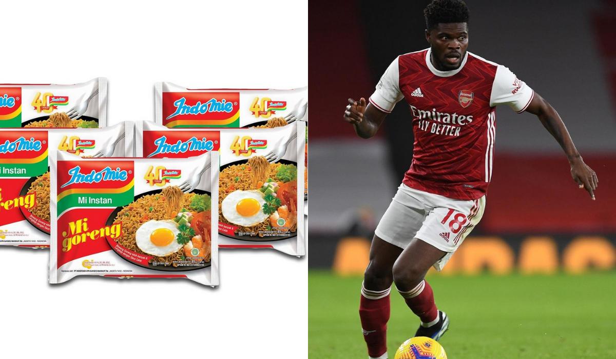 """Gelandang Arsenal Thomas Partey Rela """"Habiskan Seluruh Uangnya"""" Demi Indomie!"""