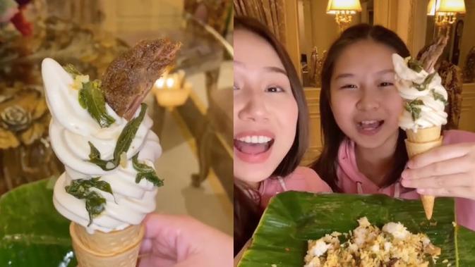 Content Creator Ini Bikin Es Krim dari Nasi Padang!