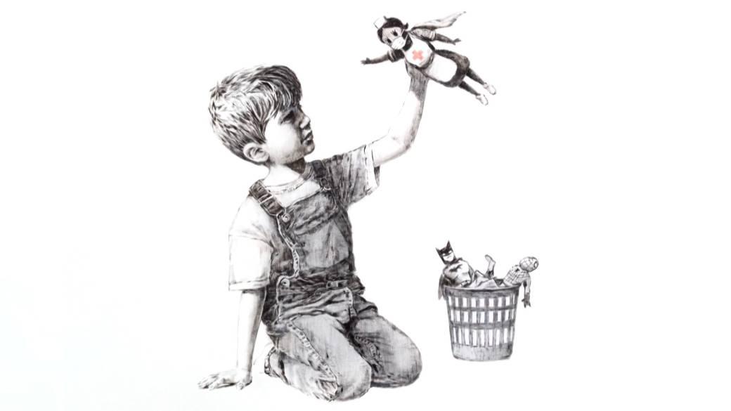 Banksy Lelang Karya Buat Donasi untuk Nakes