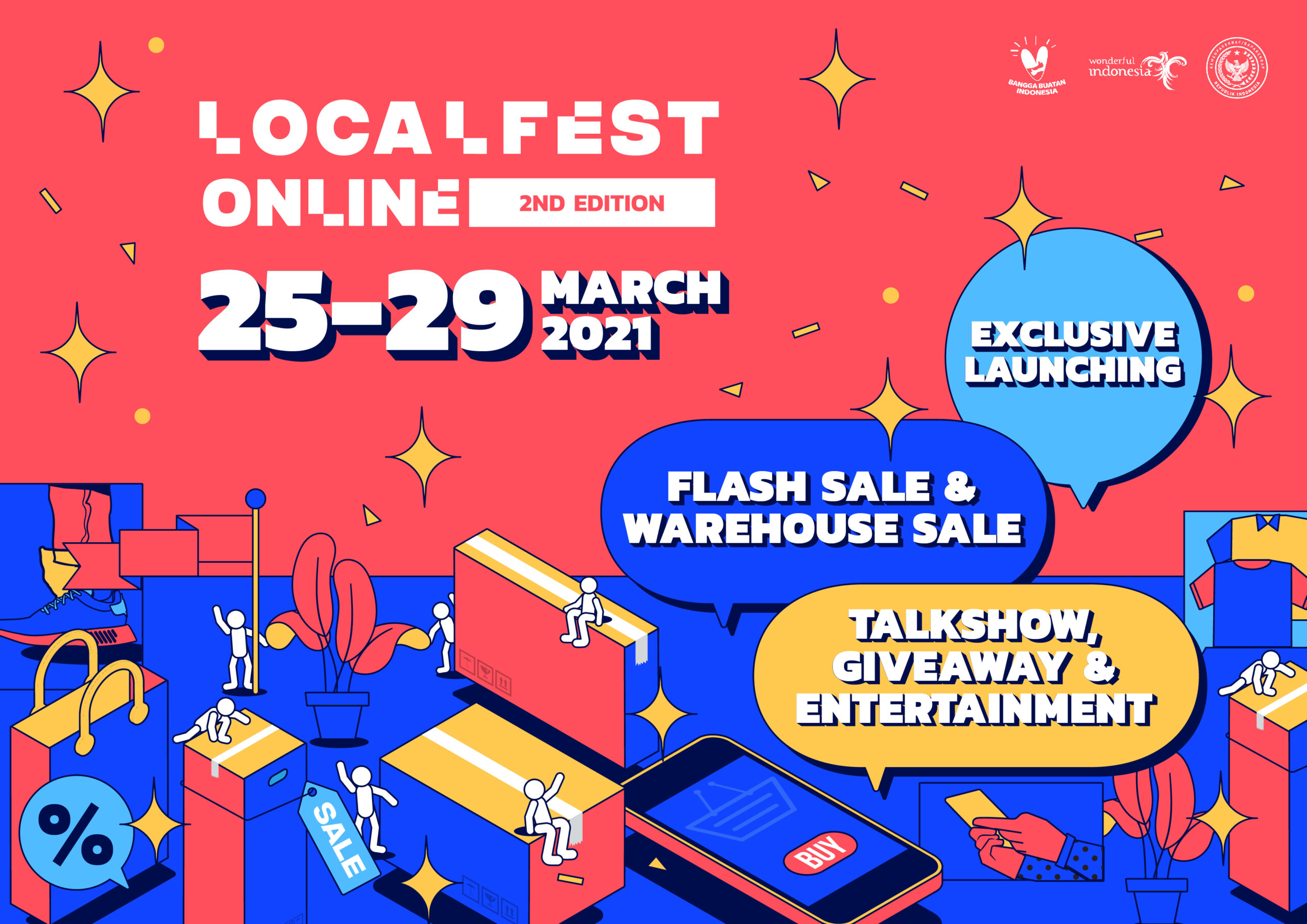 LOCALFEST Online 2nd Edition 2021 Banjir Rilisan Ekslusif dan Flash Sale!