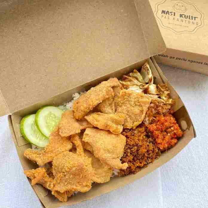 Nasi Kulit Pas Kantong, Jajan Online yang Juga PAS di Lidah!