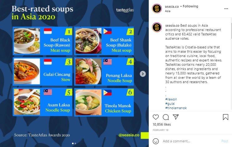 Rawon Dinobatkan Sebagai Sup Terenak di Asia