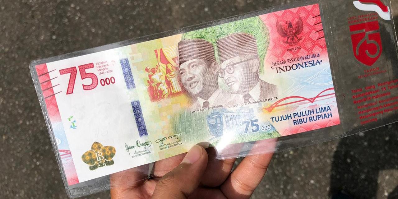 Uang Peringatan Kemerdekaan Rp 75 Ribu Bisa Ditukar 100 Lembar Per KTP