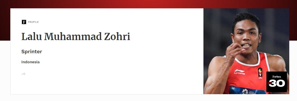 Forbes 30 Under 30 Asia 2021 - Muhammad Zohri