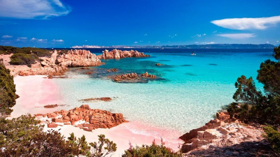 Budelli Island, tempat Robinson Crusoe dari Italia tinggal