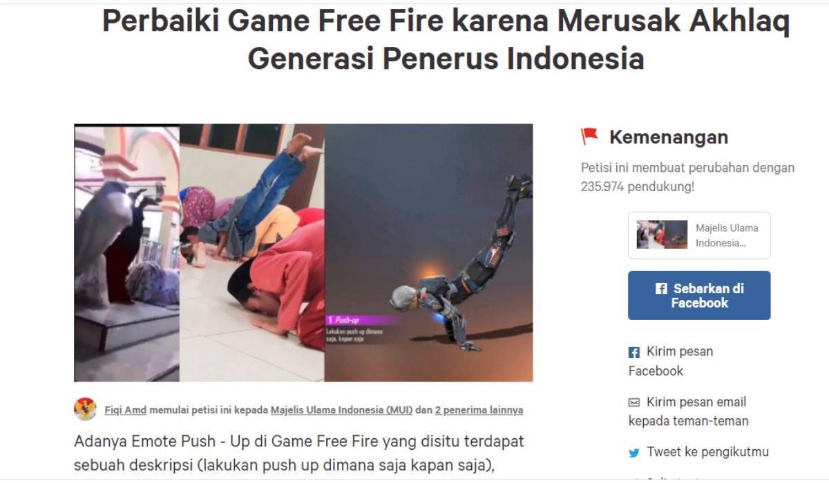 Free Fire: Emote Handstand Ditiru Anak-Anak Ketika Sholat, Garena Angkat Suara