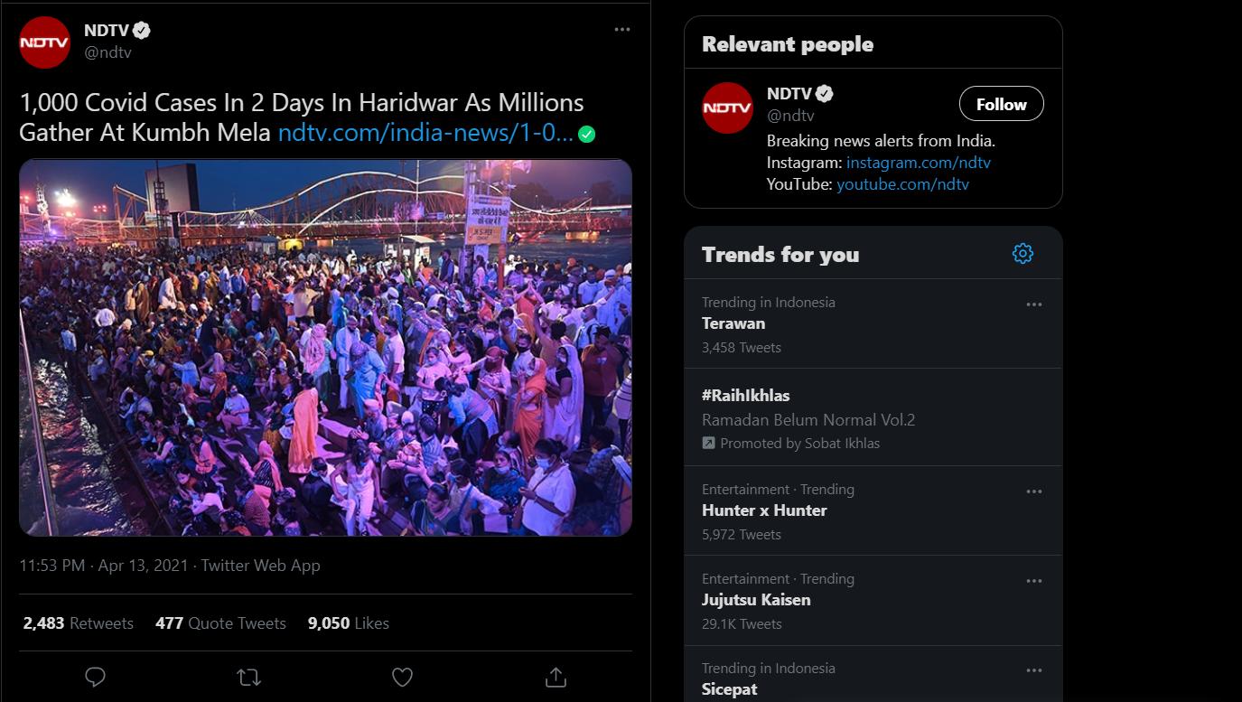 Warga India Jalankan Ritual Mandi Bareng Di Sungai, 1.000 Orang Dinyatakan Positif Covid-19!