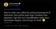 Ernest Prakasa Kritik Sekertariat Negara Karena Publikasi Niikahan Atta-Aurel