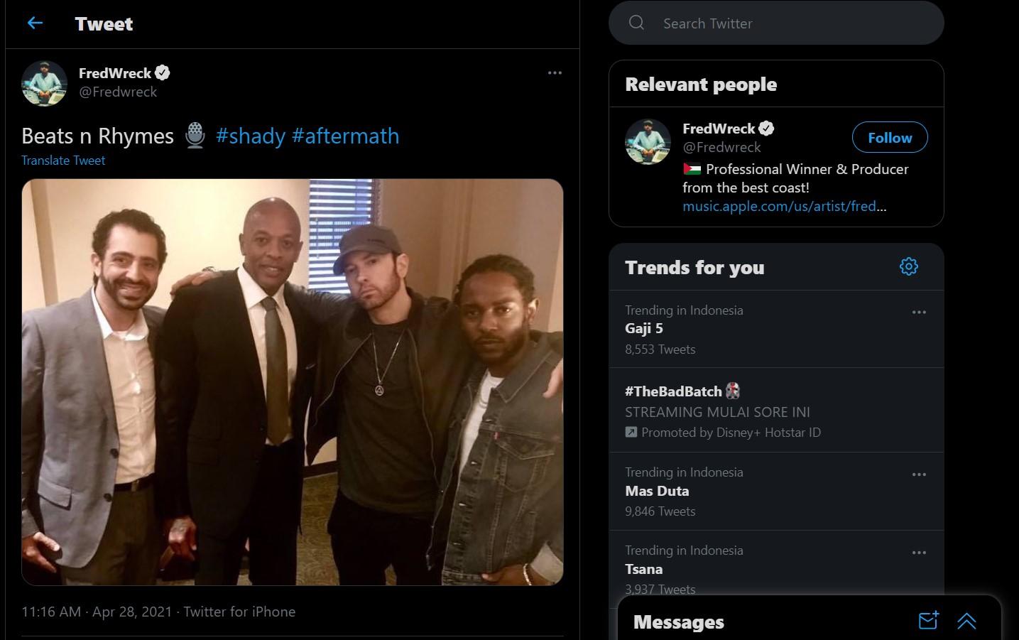 Rumor Kolaborasi Kendrick Lamar bareng Eminem dan Dr.Dre Berhembus Kencang!