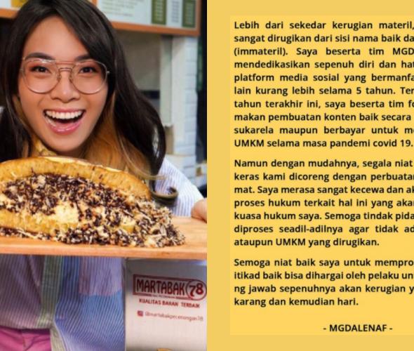 Food Vlogger Mgdalenaf Niat Bantu UMKM, Namun Ditipu Admin Sendiri
