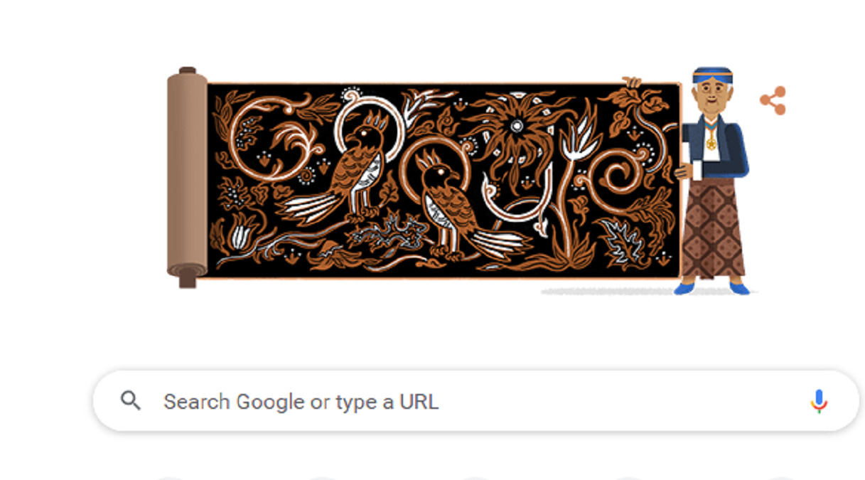 Google Doodle Hormati Budayawan Batik Go Tik Swan K.R.T. Hardjonagoro