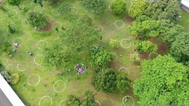 Ragunan Bikin Lingkaran Piknik Untuk Antisipasi Kerumunan