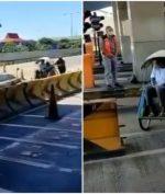 Becak Masuk Tol Surabaya-Gresik, Sempat Melintas Sejauh 2,6 Kilometer