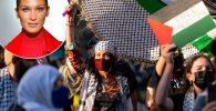Bella Hadid joining pro-Palestine protest