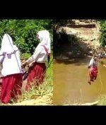 Viral Siswa SD Seberangi Sungai dengan 'Flying Fox', KPAI Prihatin