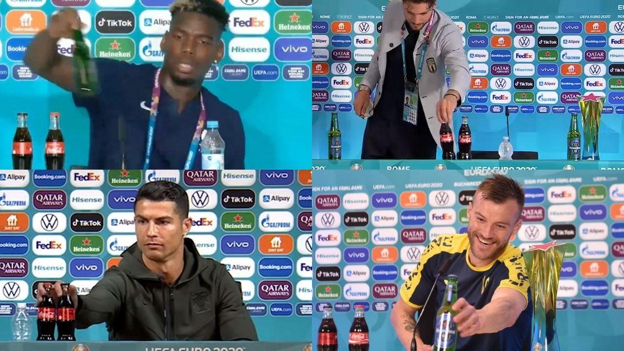 'Pindah Botol' Jadi Tren Euro 2020, UEFA Minta Pemain Stop Pindahkan Botol Sponsor!