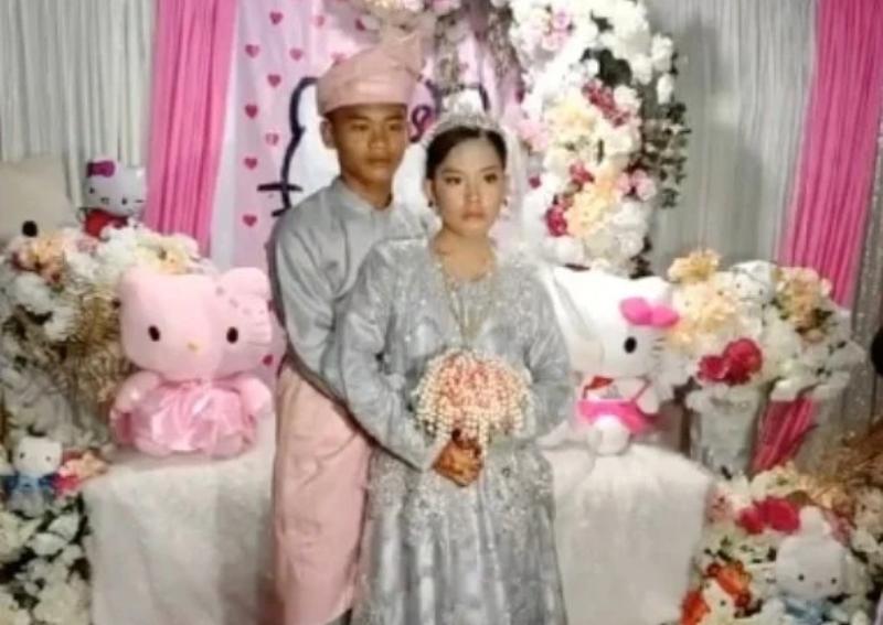 Pernikahan dengan tema Hello Kitty tersebut viral berkat TikTok
