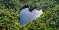 Toyoni, Danau Jepang yang Terbentuk Seperti Hati Secara Alami