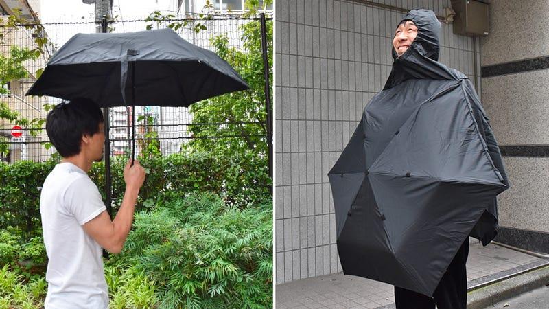 Payung Ini Bisa Berfungsi Ganda Sebagai Jas Hujan