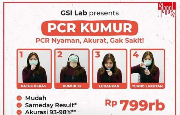 Tes Kumur PCR Dibuka di Jakarta, Akurasi 98 Persen?