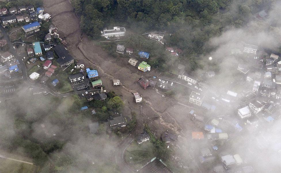 Bencana Longsor Lumpur Hancurkan Rumah di Jepang, Momennya Terekam Kamera (Google Earth/Reuters)