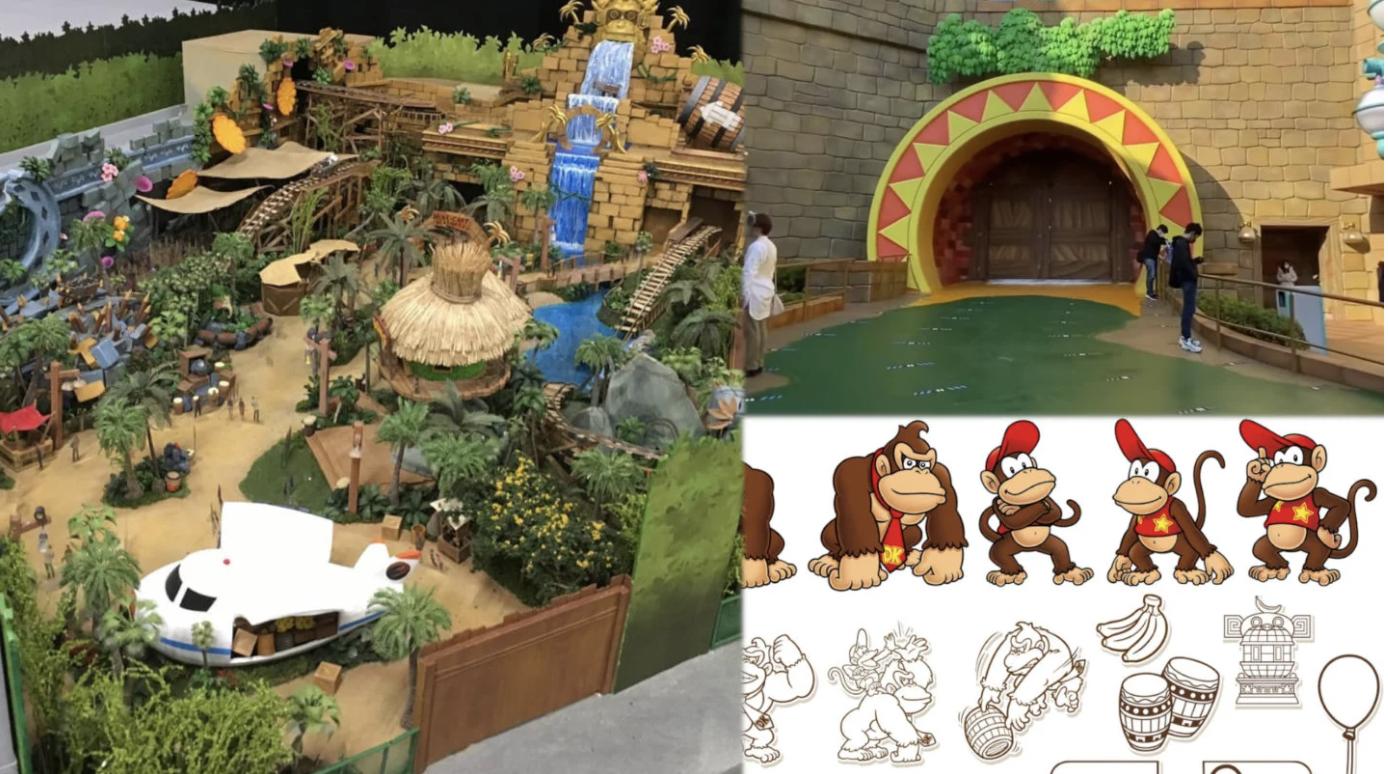 Donkey Kong di SUper Nintendo World