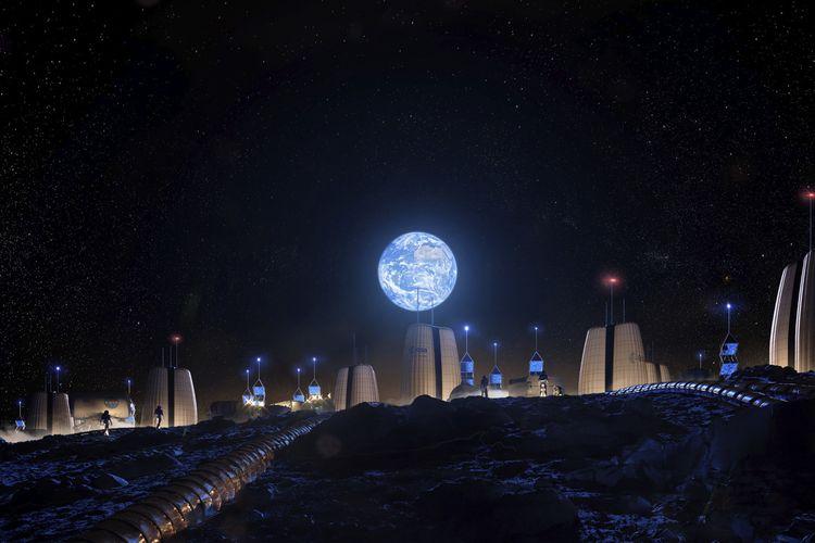 Desa Masa Depan di Bulan Karya Arsitek Amerika Mulai Dipamerkan