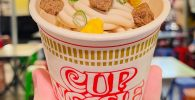 Jepang Bikin Es Krim Vanilla dengan Topping Daging, Daun Bawang, Telur hingga Udang