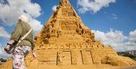 Istana Pasir Tertinggi di Dunia Selesai Dibangun, Bertema Covid-19!