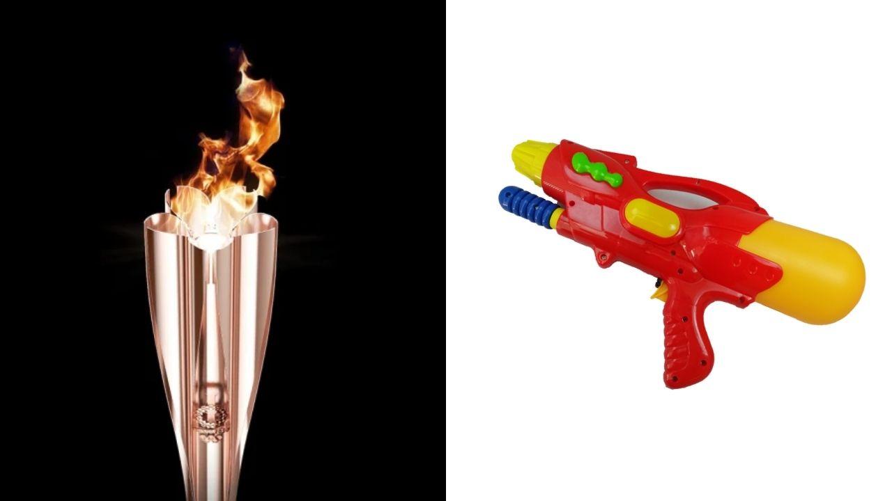 Obor Olimpiade Jadi Sasaran Pistol Air Perempuan Ini!