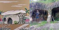 Tinggal di Gua Selama 10 Tahun, Kakek Ini Bagaikan Flintstone Dunia Nyata!