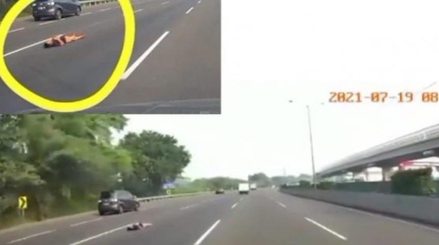 Video Viral Orang Rebahan di Tengah Jalan Tol, Begini Kata Jasamarga