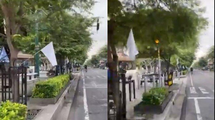 Bendera Putih Berkibar di Sepanjang Jalan Malioboro, Jadi Simbol Menyerah Para Pedagang