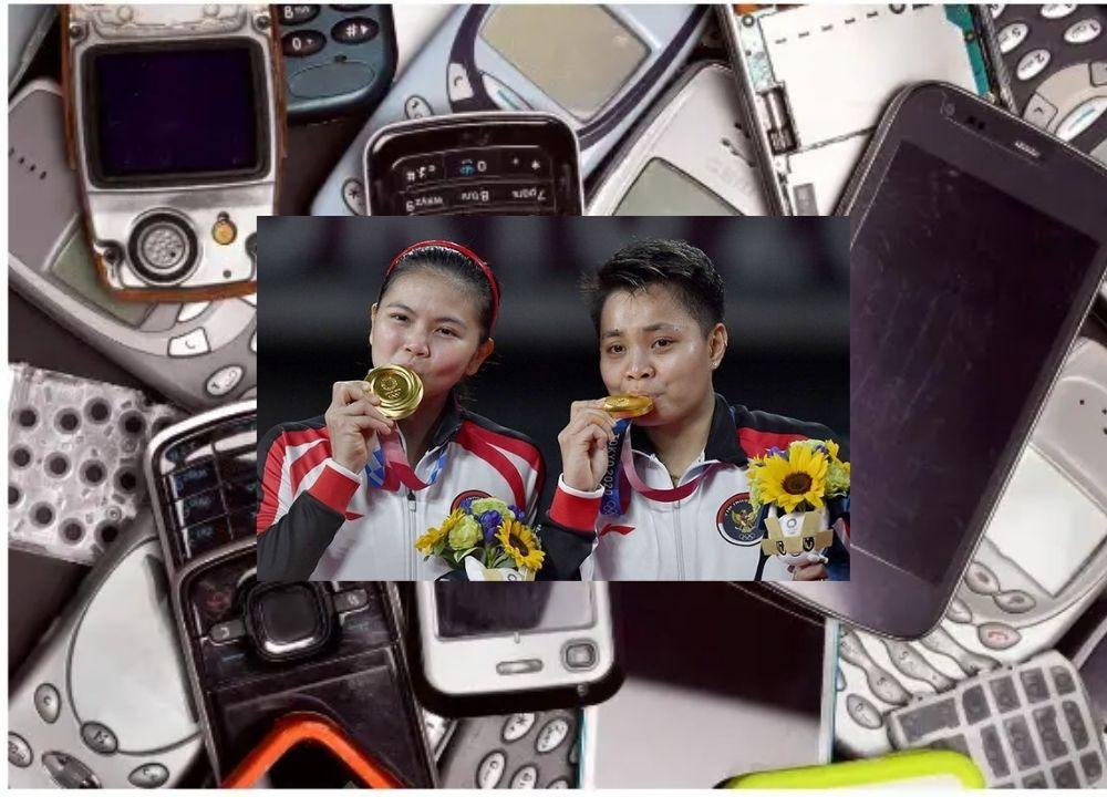 Sampah elektronik adalah bahan utama medali Olimpiade